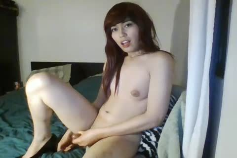 gal oriental Lady Rubs Her penis Till that babe Cums